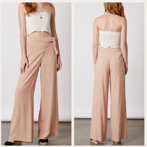 Pants - High waist pant. Front side knot detail.